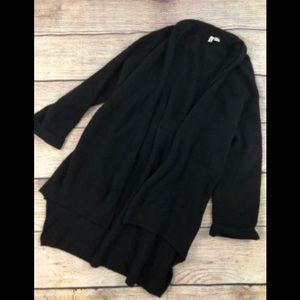 Moth Anthropologie S black wool blend tie sweater